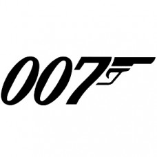 007 Diecut Adhesive Vinyl Decal Sticker