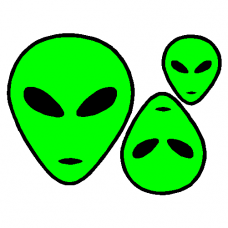 Alien decal