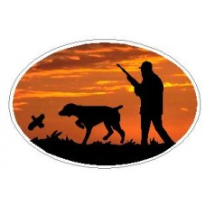 Oval Hunting Dog Decal