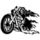 Grim Biker decal - 096