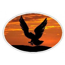 Oval Eagle Decal