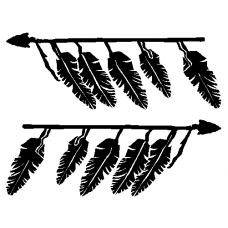 Feathers car decal