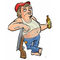 123BEER GUY REDNECK STICKER