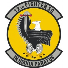 12th Fighter Squadron Patch Sticker