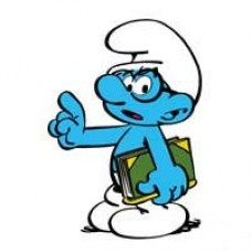 Brainy Smurf Decal