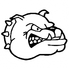 Bulldog vinyl decal
