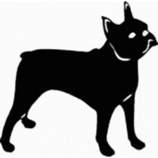 Boston Terrier Dog Decal - 15D