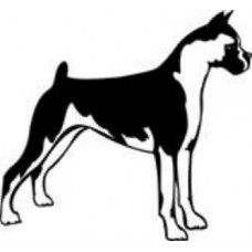 Boxer Dog Decal - 15E