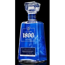 1800 SilverTequila Bottle Shot Rectangular Sticker