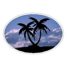 Oval Palm Tree Decal