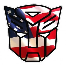 1 Flag Fill AUTOBOT Decal