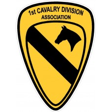 1st Cavalry Division Shoulder Sleeve Insignia Patch Design Sticker