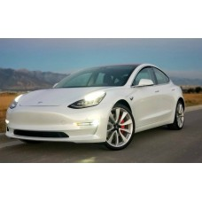 2018 Pearl White Performance Model 3 TESLA sticker