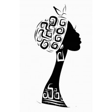 2 African Faces Africa Decal 04