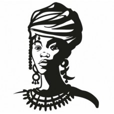 2 African Faces Africa Decal 09