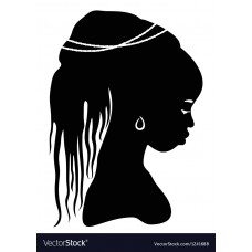 2 African Faces Africa Decal 18