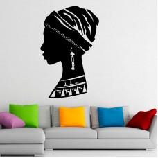 2 African Faces Africa Decal 22