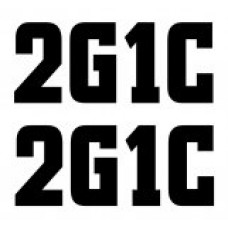 2G1C die cut decal set