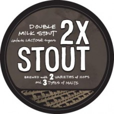 2x stout logo sticker