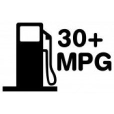 30 Plus MPG Decal