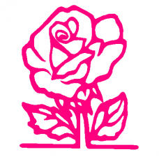 320A  - Rose vinyl sticker