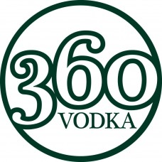 360 Vodka Logo Circular Sticker