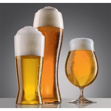 3 beer glasses with grey background sticker