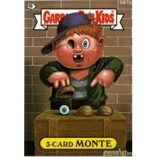 3 Card MONTE Funny Sticker Name Decal