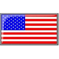 3D USA Flag Decal Sticker