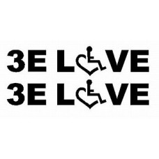 3E LOVE pair of diecut decals