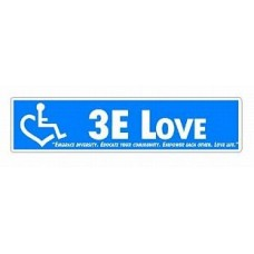 3E LOVE bumper sticker