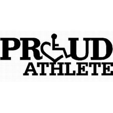 3E LOVE proud athlete diecut vinyl decal
