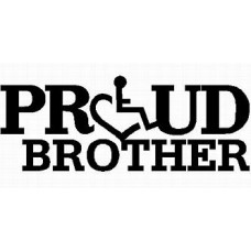 3E LOVE proud brother diecut vinyl decal