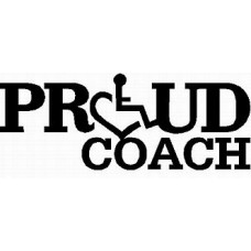3E LOVE proud coach diecut vinyl decal