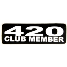 420 club member bumper sticker