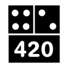 420 Domino Adhesive Vinyl Decal