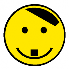 NAZI Hitler Smile Face decal - 426