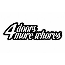 4 Doors for more whores funny auto decal