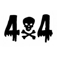 4x4 Skull and Crossbones Decal
