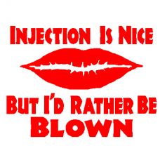 Injection Blown decal