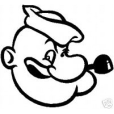 Popeye Head Decal