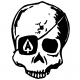 Ace of Skulls Decal