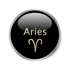6 Small Round Zodiac Stickers Aries