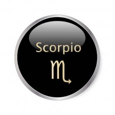 6 Small Round Zodiac Stickers Scorpio