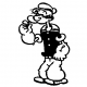Popeye standing decal