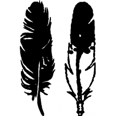 Feather vinyl stickers