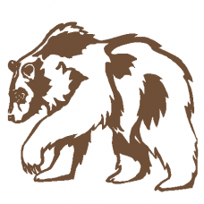822E Grizzly Bear Decal