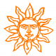Sun decal 825C Adhesive Vinyl Decal Sticker