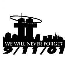 911 Never Forget Decal - 831
