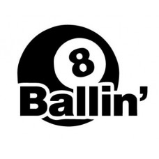 8 Ballin Funny Guy Sticker